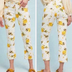 Anthropologie Lemon Grove Cropped Bootcut Jeans